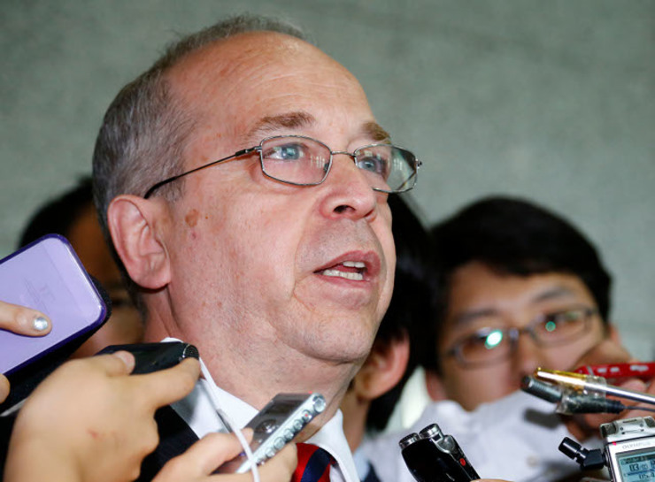 PH-US DIALOGUE. America's top diplomat for East Asia Daniel Russel is in Manila for talks likely to touch on China and Manila's military agreements with Washington. File photo courtesy: Yonhap/EPA
