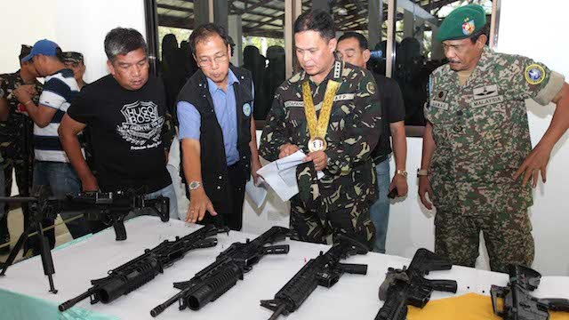 TURNOVER: MILF returns 16 firearms taken from SAF commandos