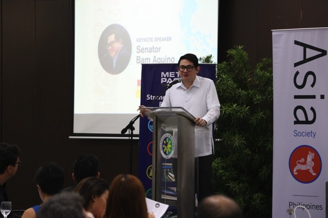 KEYNOTE. Senator Bam Aquino says government needs to be more open in sharing information to the public. Photo by Patricia Coronel/Asia Society
