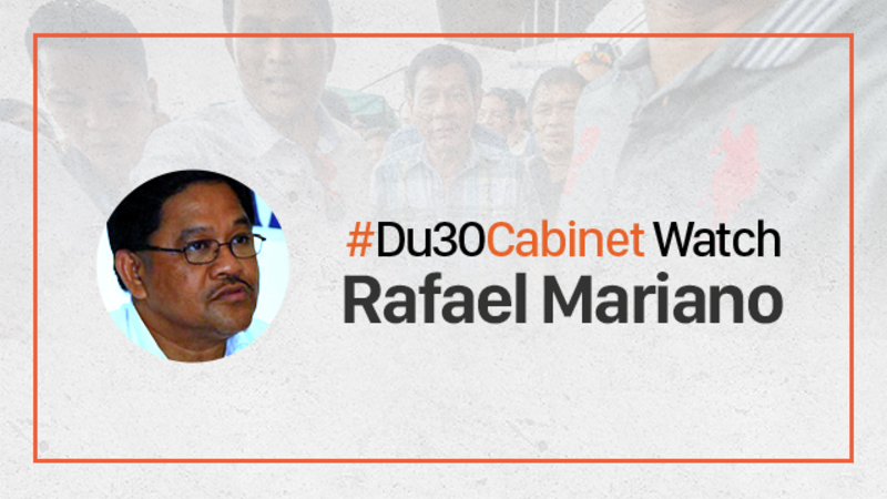APPOINTMENTS. Farmer and leftist leader Rafael Mariano is now the Secretary of Agrarian Reform.