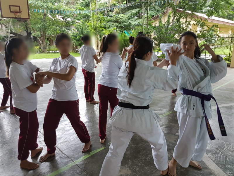 WOMEN EMPOWERMENT. The Japanese Karate Association conducts a 2-hour workshop on basic self defense. Photo courtesy of Mildred Fragante
