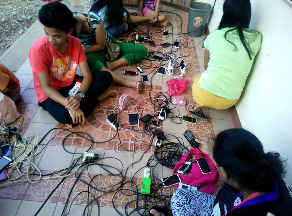 COMMUNICATION. Municipalities in Oriental Mindoro set up charging stations in the aftermath of Typhoon Nina