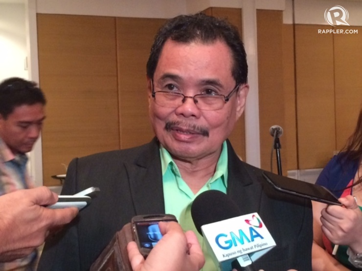 BUDGET HIKE. Bangsamoro Transition Commission chairman and Moro Islamic Liberation Front chief negotiator Mohagher Iqbal answers questions from the media after the launch of the Bangsamoro Basic Law primer at EDSA Shangri-la on November 28, 2014. Photo by Rappler