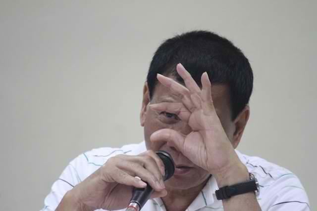 NOT RUNNING. Rodrigo Duterte is not running for president. File photo by Karlos Manlupig