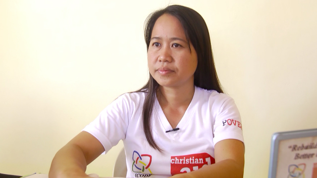 SUCCESS INDICATOR. Rosana Pandes of Iloilo CODE NGO says the project was a response to the needs of the fisher folks. Photo by David Lozada/ Rappler
