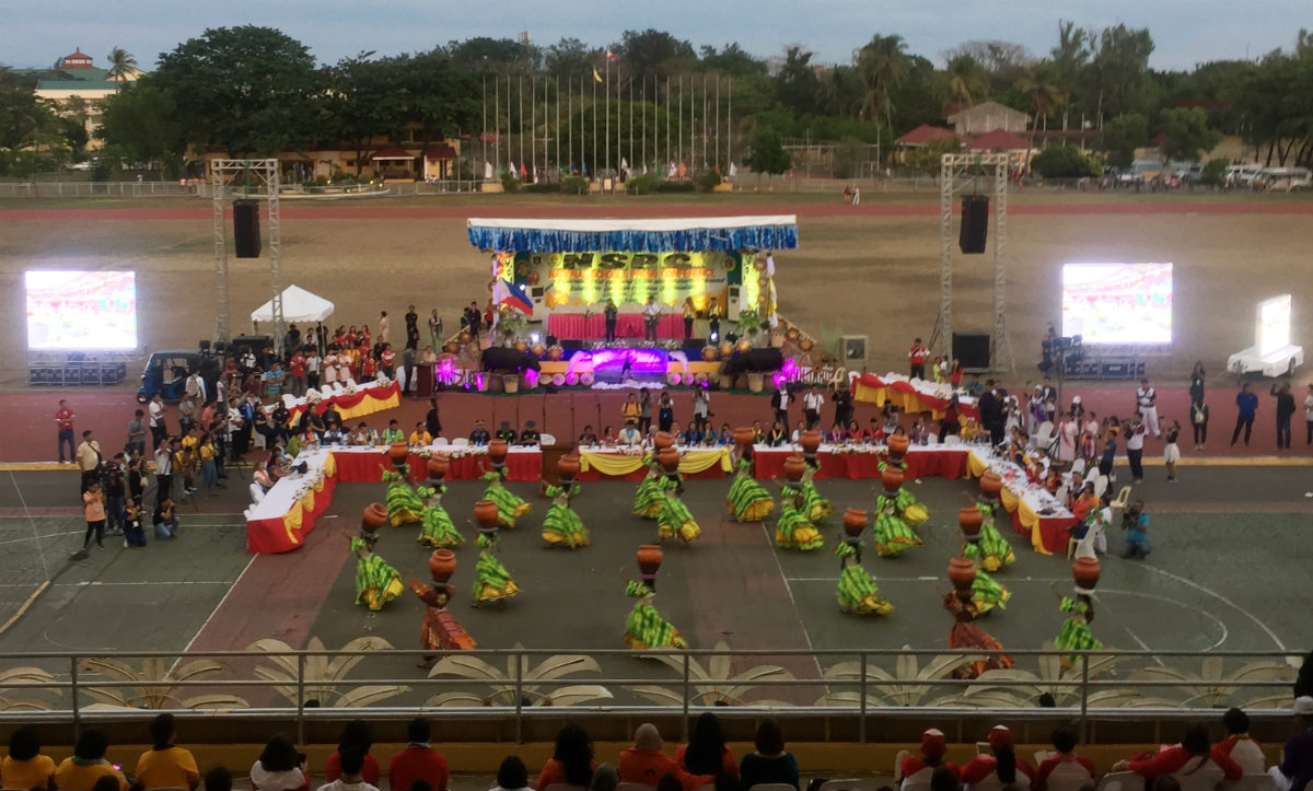 NSPC 2019 opens the ceremony with a presentation from students of Pangasinan at Narciso Ramos Sports Complex in Lingayen, Pangasinan. Photo from Jourknows