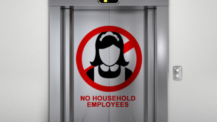 When condo policy bans drivers, maids from 'normal' elevators