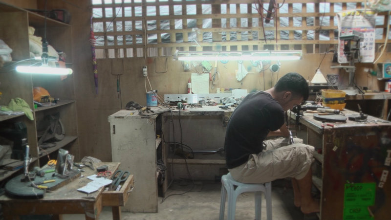 RESILIENT. Andy Villaruel, a person with disability based in Dumaguete, works as a mini tricycle manufacturer.