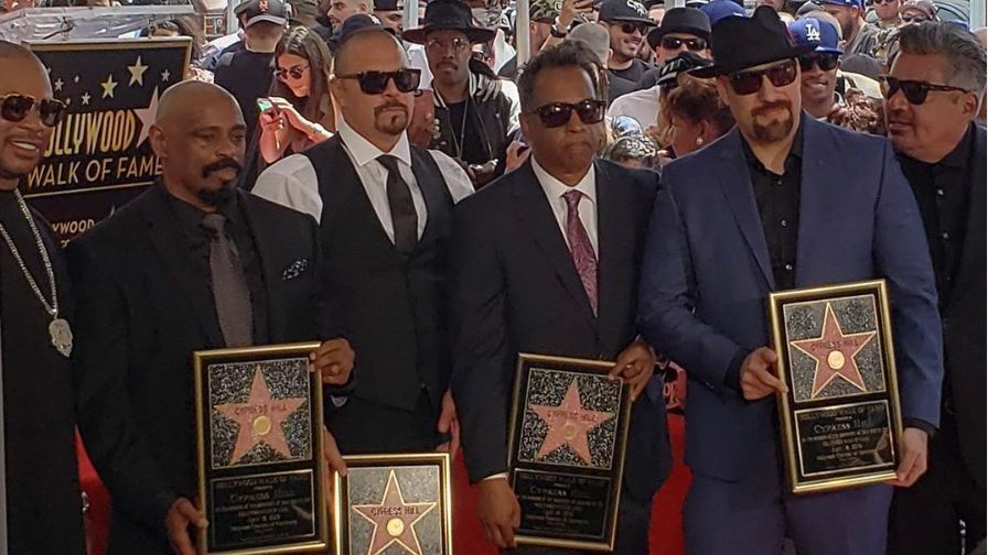 CYPRESS HILL. The 90's group unveils their Walk of Fame award. Photo from Cypress Hill's Instagram account