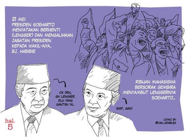 Infografis Tragedi Mei 1998 oleh @sketsagram