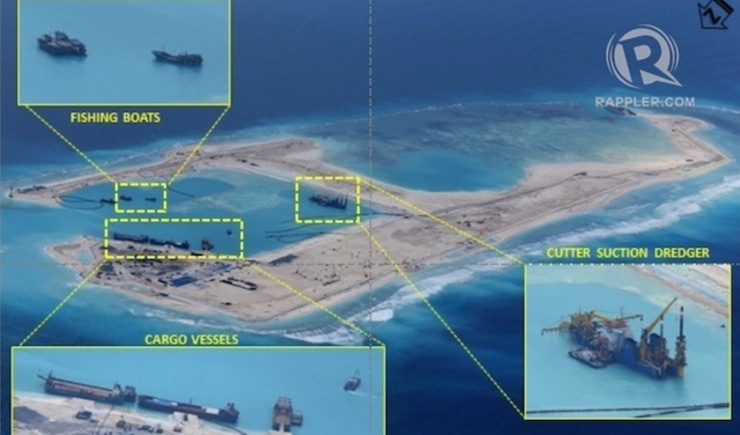 50% COMPLETE? A runway is believed to be among what China will build at the reclaimed Kagitingan Reef off the coast of Palawan
