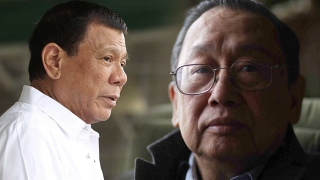 'MOVE FORWARD.' Malacañang says both President Rodrigo Duterte and Communist Party of the Philippines founding chair Jose Maria Sison agree that the peace process must move forward. Duterte file photo by Ace Morandante/Presidential Photo; Sison file photo from http://www.josemariasison.org/