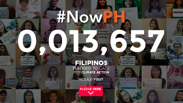 #NOWPH. As of September 21, more than 13,000 Filipinos pledge to call for climate action. Sign now!
