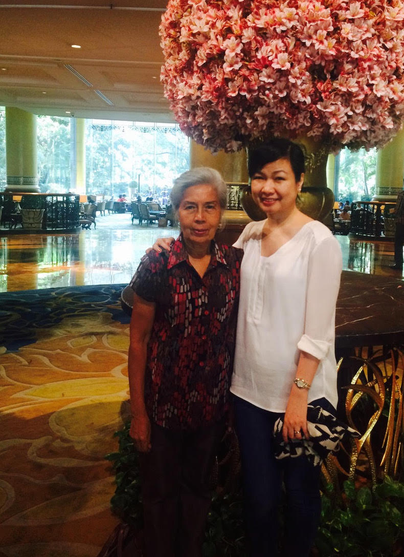 MENTOR. Earl with her 'brilliant first mentor,' retired  Court of Appeals justice Teresita Dy-Liacco Flores.