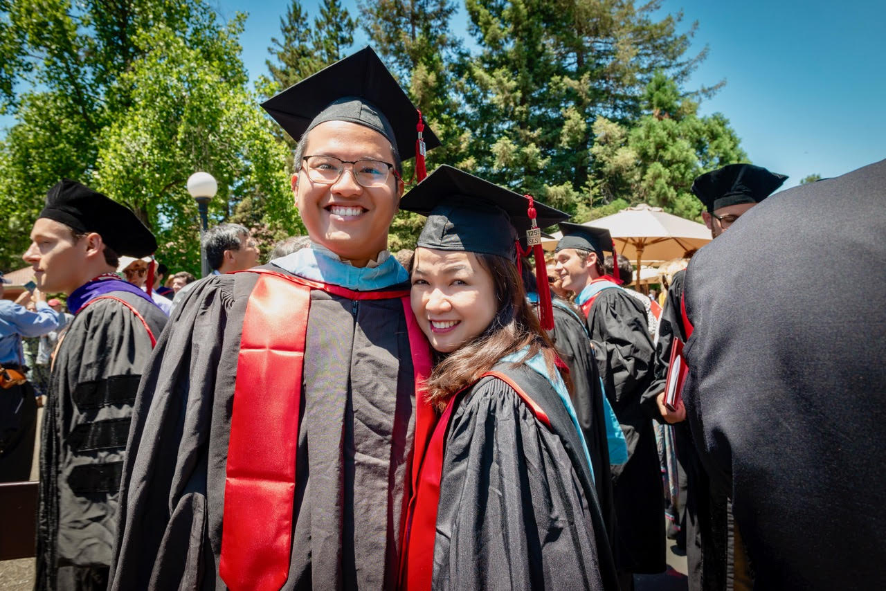 CLASSMATES. There were only two Filipinos in their batch at Stanford Law School: Earl and her friend, Juan Antonio Remulla Oposa.