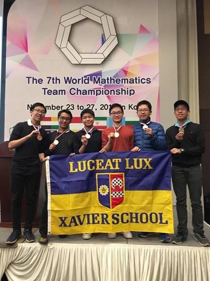 Xavier Advanced Team: (L to R) ); Matthew Johan Uy , Kimmayong Ayahao, Alexander Go, Sedrick Scott Keh, Xuan Li, Mark Christopher Uy