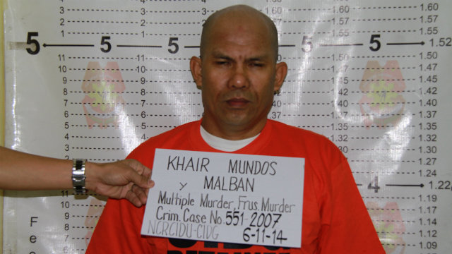 CAUGHT. Philippine police arrest Khair Mundos, who was previously arrested for facilitating the transfer of funds from the al-Qaida to Abu Sayyaf Group leader Khadaffy Janjalani. Photo courtesy of the PNP PIO