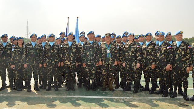 'BATTALION OF EXCELLENCE': The troops in Golan Heights are well-trained and well-armed. November 2013 file photo before the group left for Golan