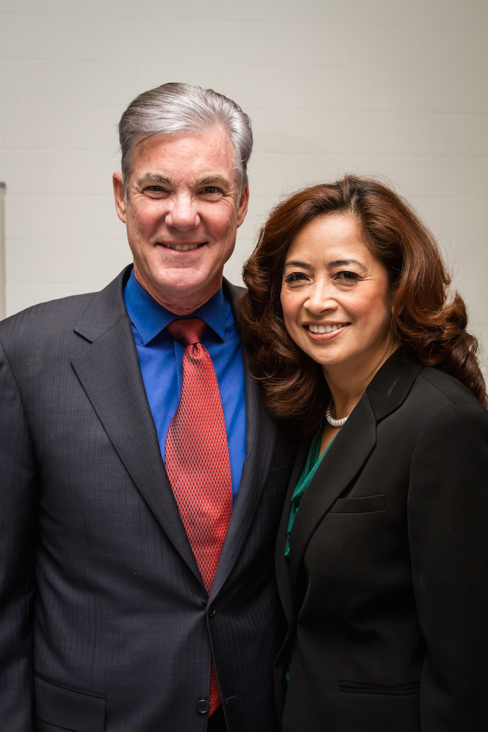 Mae Cendaña Torlakson is following in the footsteps of husband Schools Supe. Tom Torlakson, in her bid be the first FilAm woman elected to the California State Legislature.  Photo courtesy Torlakson campaign
