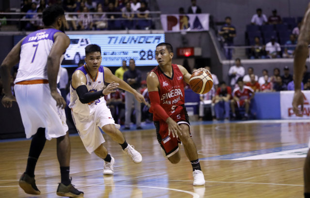 9a0a5e2307 Ginebra takes Game 1 over TNT in demoralizing fashion. Photo by PBA Images