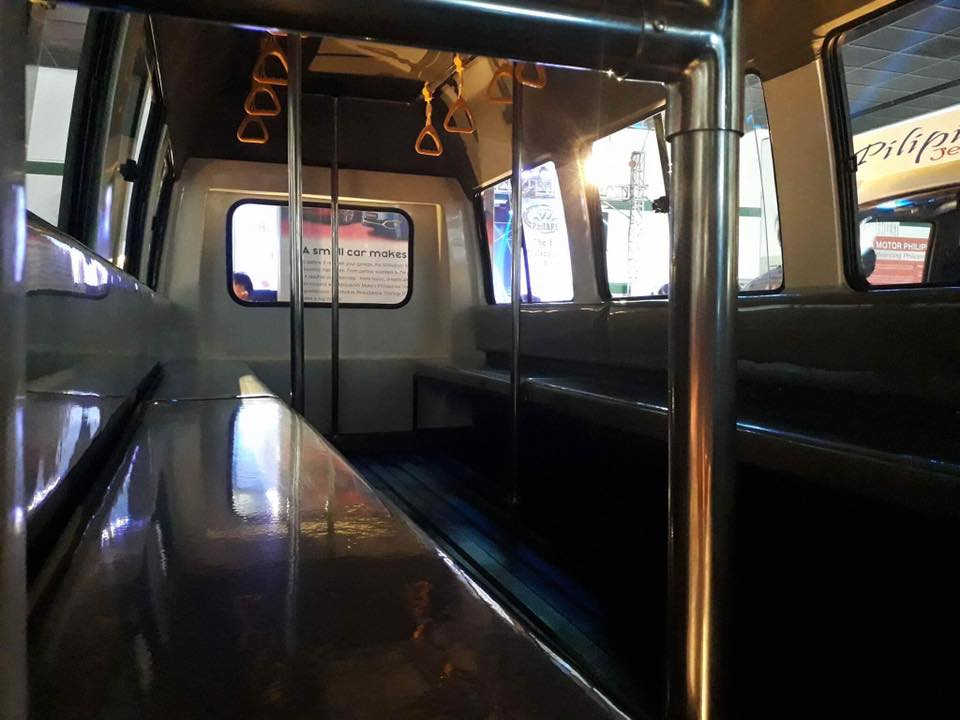 SAFETY. Bars and handrails are installed in the new PUVs to ensure safety of the passengers.