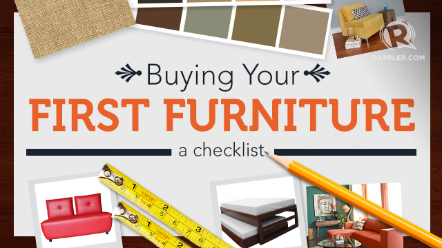 Buying Your First Furniture A Checklist