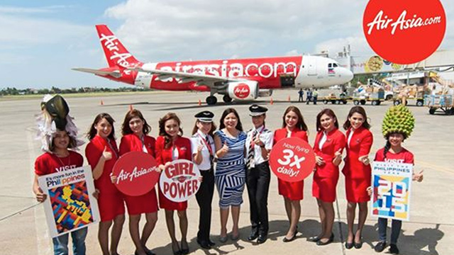 All Women Flight Crew Fly Airasia S Manila Davao Route