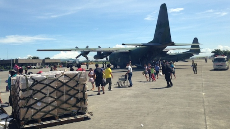 MILITARY PLANES: File photo of a C130 aircraft in Villamor Airbase