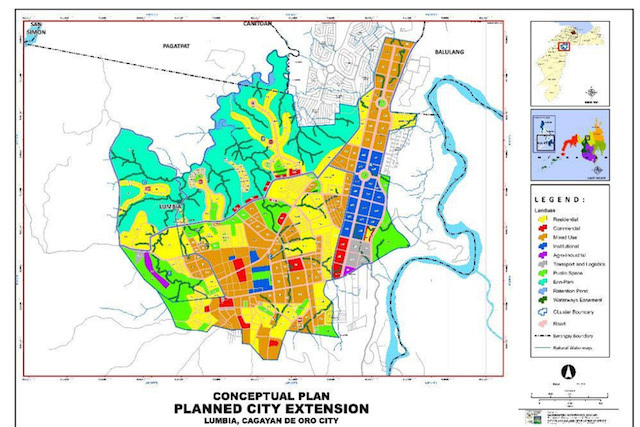 EXTENSION. The conceptual plan of the planned Cagayan de Oro city extension. Map courtesy of the CDO government