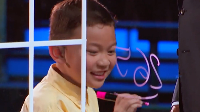 BOY WONDER. Miguel Secillano solves math problems on US show 'Little Big Shots.' Screengrab from Little Big Shots Facebook Page