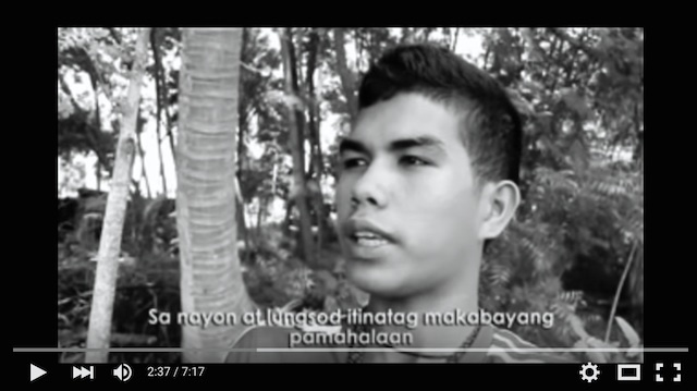 NPA SCHOOL? A schoolboy claims the communist movement used to run his school in Talaingod, Davao Del Nore. Screenshot of the Youtube video