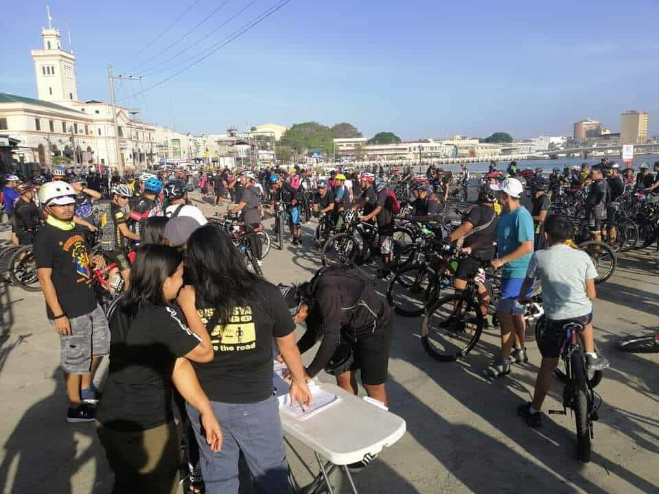 RIGHT TO PEDAL. Ilonggo bikers gather and register themselves in front of the Iloilo Dinagyang Grandstand along Muelle Loney Street in Iloilo City on March 18, 2019. Photo by Rock Drilon