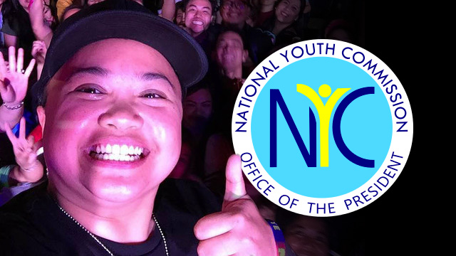 NYC CHAIRPERSON. Aiza Seguerra is the incoming Chairperson and CEO of the National Youth Commission.