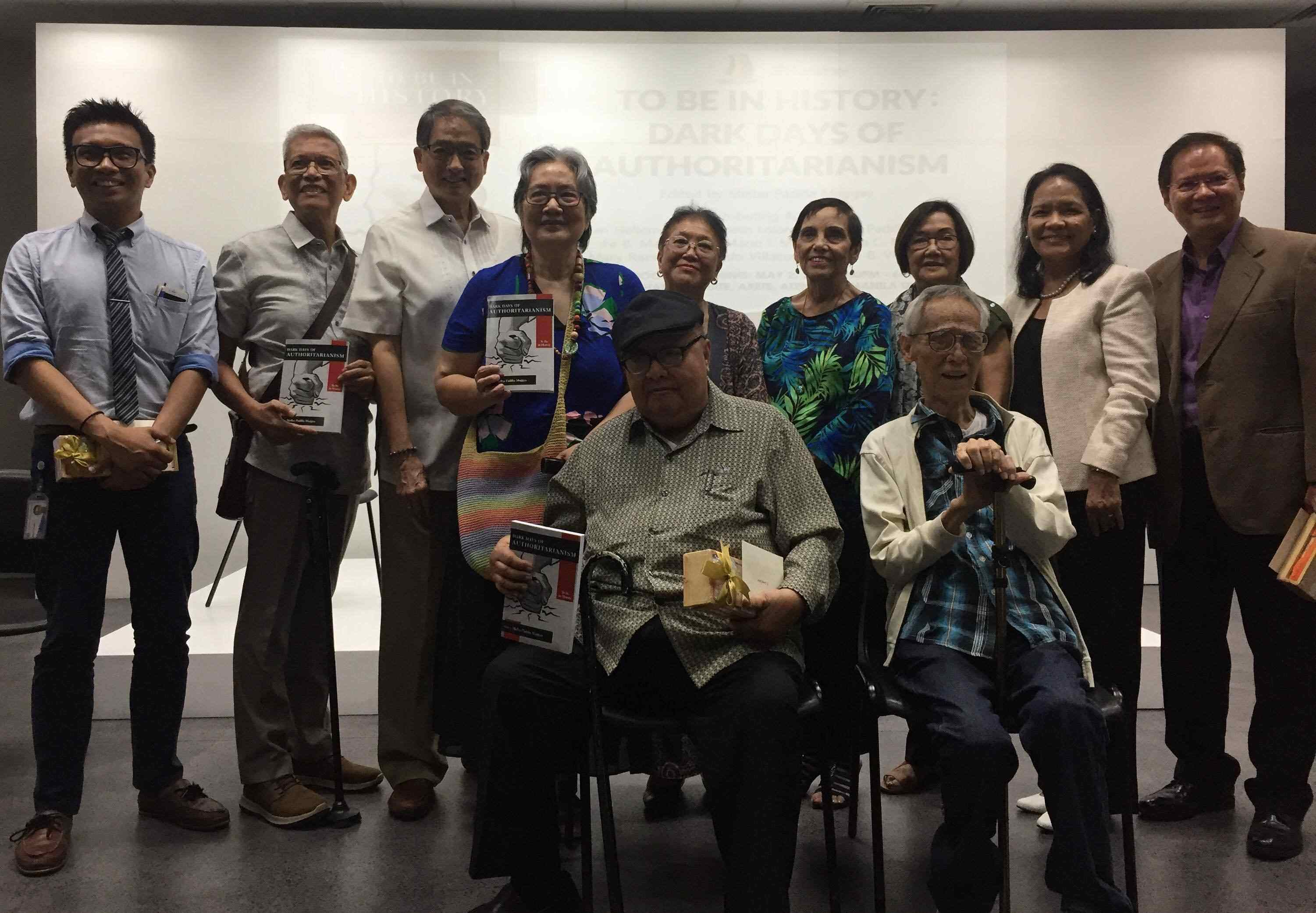 PRIDE. Contributing authors together with guest speakers proudly present the book during the launch on May 2, 2019, at Ateneo's Arete. Photo by Maria Gabriela Aquino/Rappler