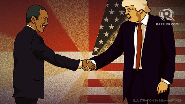 "BERTEMU. Presiden Joko ""Jokowi"" Widodo dijadwalkan akan bertemu secara bilateral dengan Presiden Donald Trump di sela KTT G20 di Hamburg, Jerman pada 7 Juli. Ilustrasi oleh Rappler"