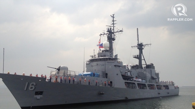 HAND-ME-DOWN. The Philippine Navy's most capable warship, BRP Ramon Alcaraz, is an excess defense article from the US Coast Guard. Rappler file photo Carmela Fonbuena/Rappler