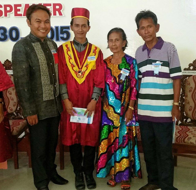 BADJAO. Roben Abdella graduated magna cum laude from Mindanao State University (MSU) Tawi-Tawi with a degree in Secondary Education. Photo from Basil Sali