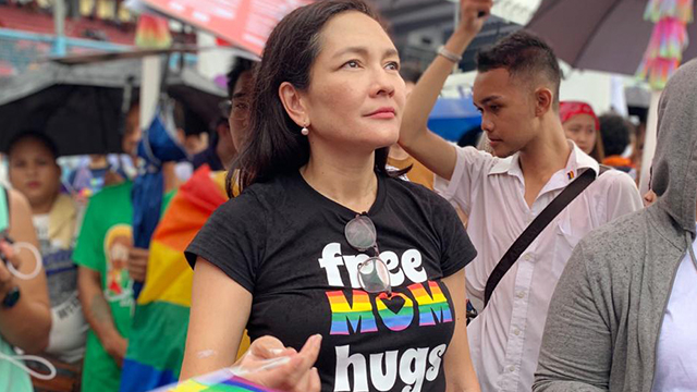 LGBTQ+ ALLY. Senator Risa Hontiveros joins the 70,000-strong crowd at the 2019 Metro Manila Pride March at the Marikina Sports Center on June 29, 2019. Photo from Hontiveros' office