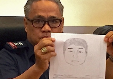 SUSPECT. In this file photo, authorities release a cartographic sketch of one of the suspects in the Samal Island abduction on September 23, 2015. Photo by Editha Caduaya/Rappler