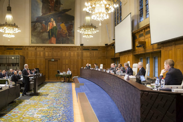 HISTORIC CASE. The Philippine delegation presents its arguments against China before an arbitral tribunal in The Hague, Netherlands, in November 2015. Photo from the Permanent Court of Arbitration