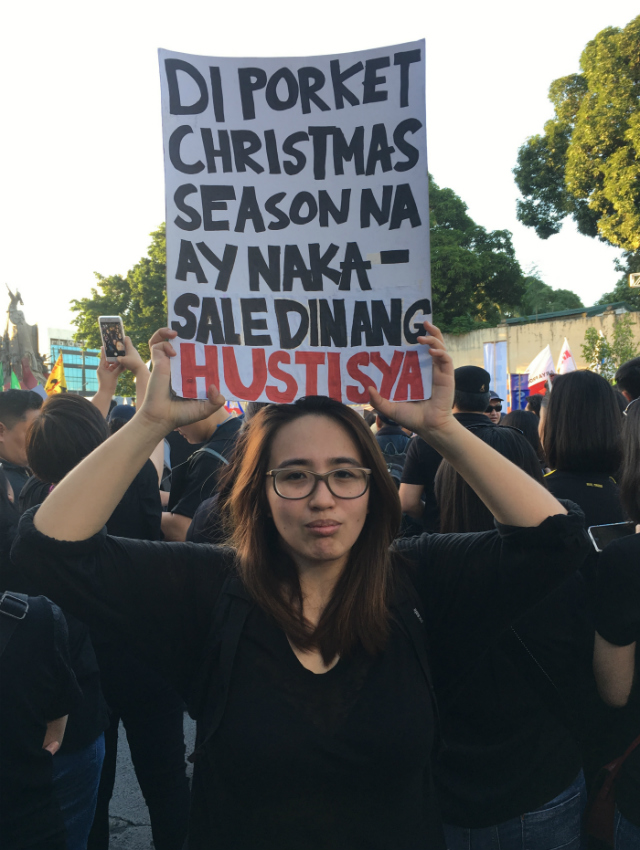 JUSTICE. Ateneo alumna Mima Mendoza says young people have to hold their government accountable. Photo by David Lozada/Rappler