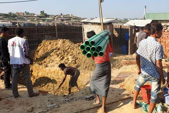 SANITATION. The community has to store clean water and maintain proper hygiene.