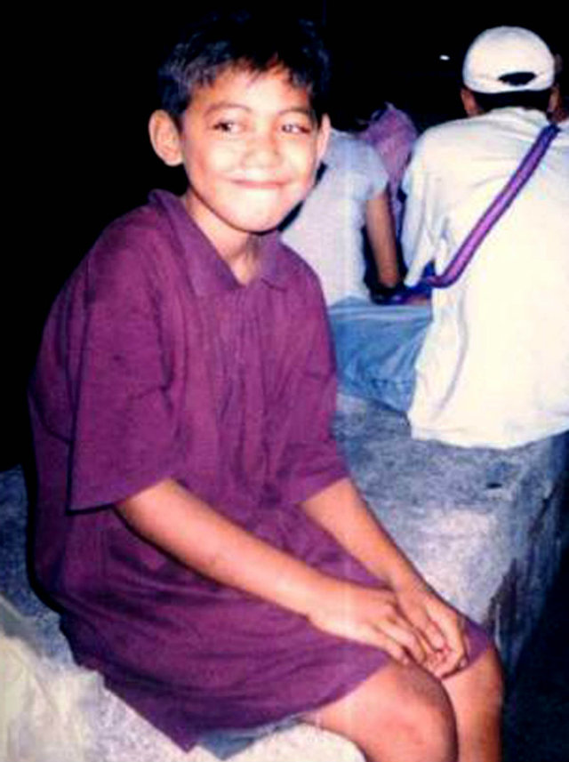 Florante Talampas' photo as a street child in Plaza Divisoria, Cagayan de Oro City.
