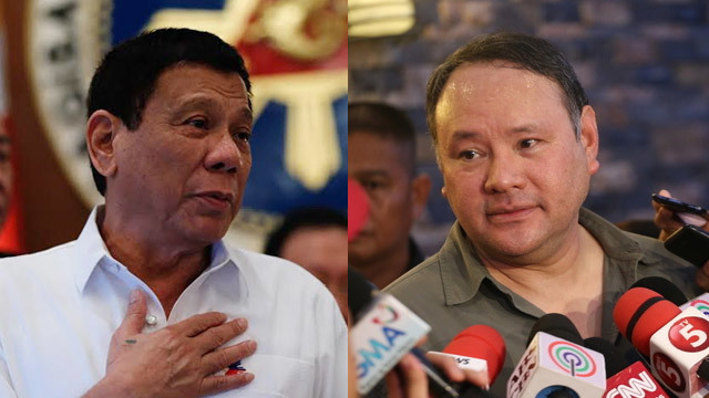 NEW DEFENSE CHIEF? President Rodrigo Duterte (left) has renewed his offer to former defense chief Gilbert 'Gibo' Teodoro.