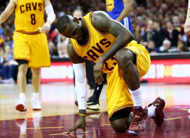 WATCH: LeBron James cuts head open on camera