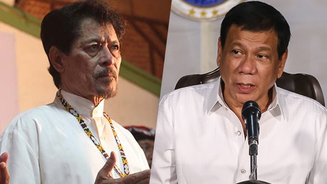 OLD AGE. President Rodrigo Duterte says there will be a big problem if something bad happens to Moro National Liberation Front leader Nur Misuari under government custody.