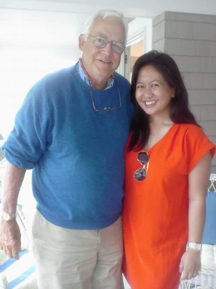 Mr Scott and the author. Photo by Kristine Sydney