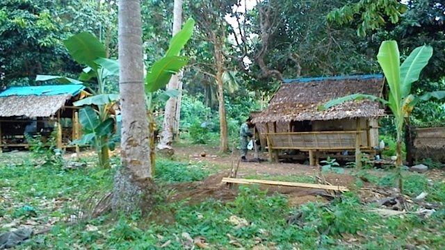 ABANDONED CAMPS: The military says the Abu Sayyaf is now on the run. Military photo