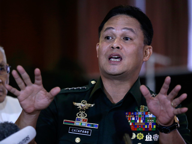 NO TO WAR. General Gregorio Catapang Jr explains why the peace process is preferable to an all-out-war against the MILF.
