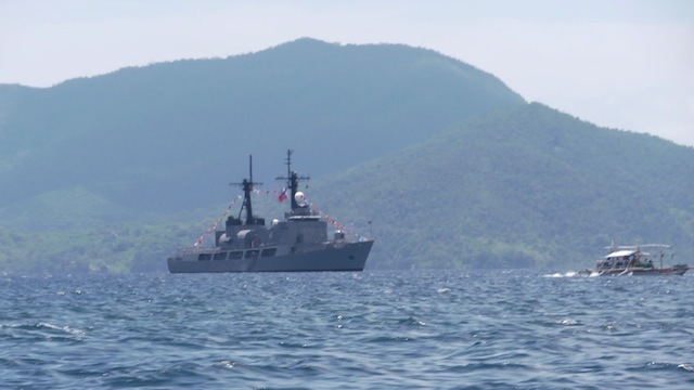 ULUGAN BAY: A Philippine warship inside the Ulugan Bay in Palawan, the home port of the Philippine Navy's Hamilton-class cutters. Rappler file photo